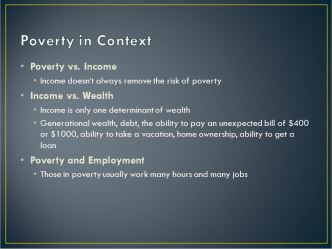 Poverty in context
