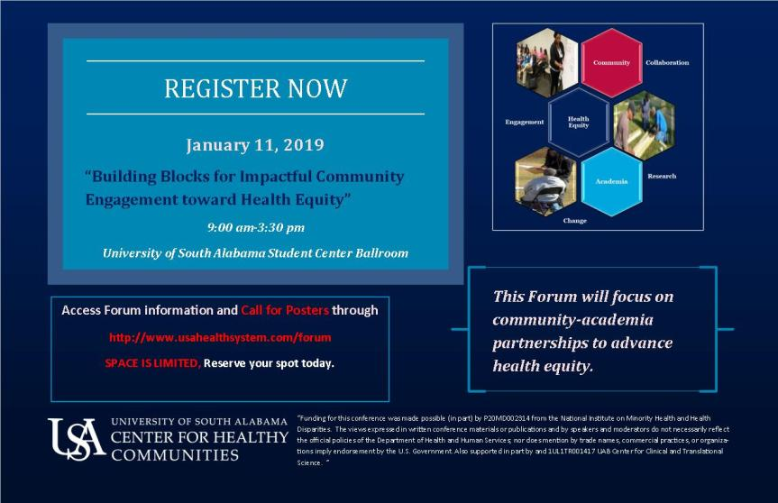 Forum: Building Blocks for Impactful Community Engagement Toward Health Equity